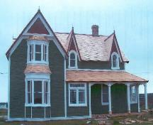 Front exterior photo view of St. Joseph's Rectory, Chapel Hill, Bonavista, NL, after restoration, 2005; Newfoundland Historic Trust, 2006