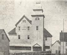Historic photo view of front exterior of the Orange Hall, Bonavista, date unknown; HFNL 2006