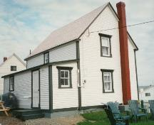 Rear and side view of of Alexander and Jennie Templeman House, Bonavista, circa 1997; HFNL 2004