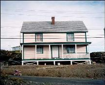 Exterior facade view of William Ellis Saint House, Bonavista, NL, circa 1996; HFNL 2006