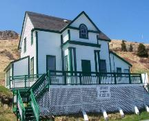 Southeastern elevation of Historic Ferryland Museum, Ferryland, NL taken from the Southern Shore Highway. Photo taken May 2006. ; HFNL/Andrea O'Brien