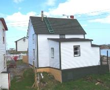 View of the rear facade of the Pearce Foley House in Tilting, NL following restoration. ; HFNL/Andrea O'Brien 2005