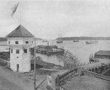 Exterior view of the Bastion , ca. 1900; Nanaimo Community Archives, Jack E. Work Fonds, Photo No. 1993 028 A-P43