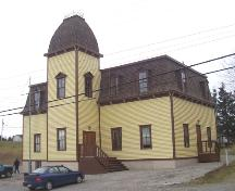 View of front and right facades, St. George's Court House, St. George's, NL.; HFNL 2005