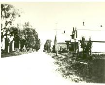 Looking south down Main Street from Bardin Street; Victoria Seaport Eco-museum Collection, c. 1930