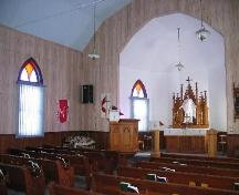 View of the sanctuary of Trinity Lutheran Church St. Boswells.; Clint Robertson, 2006.