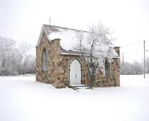 View of front facade of St. Lucy's Anglican Church, 2005.; Saskatchewan Architectural Heritage Society, Frank Korvemaker, 2006.