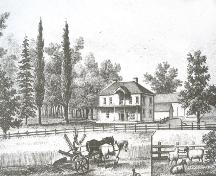 Residence of Benjamin Wright; Meacham's Atlas of PEI, 1880