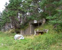 Entrance to the abandoned, underground American bunkers for 282 Coastal Defence Battery, located in Argentia, NL. Photo taken 2005.; HFNL/ 2006