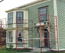 View of front facade, O'Reilly House, during renovations, post 1999.; HFNL/ 2006