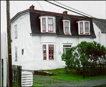 View of James Groves House, Bonavista, circa 1997, before restoration of wooden shingles; HFNL 2004