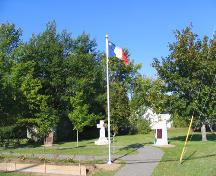 "The ""Cradle of the Acadian Flag"", flag and monuments.; Village of Saint-Louis-de-Kent"