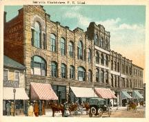 Showing current building - second from right; Postcard Image, Doug Murray, Postal Historian