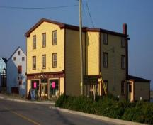 Exterior front and left side of Philip Templeman/J.T. Swyers General Store, 42 Campbell Street, Bonavista, circa 2000; Town of Bonavista 2006