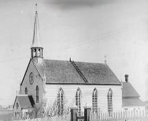 Side and front photo view of St. Joseph's Roman Catholic Church, Bonavista, circa 1930; Bonavista Historic Townscape Foundation/Newfoundland Historic Trust, 2005