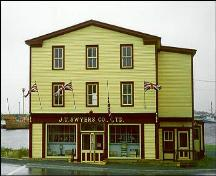 Philip Templeman/J.T. Swyers General Store, front facade, circa 1995, prior to addition to left side of building; HFNL 1998