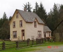 Exterior view of the Annand/Rowlatt Farmhouse, March 2005; Township of Langley, Julie MacDonald 2005
