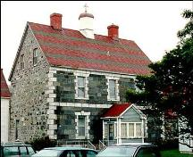 View of main facade and left gable end, Our Lady of Angels / Presentation Convent - Placentia ; HFNL/ 2005