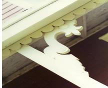 Showing decorative bracket on verandah; Victoria Seaport Eco-museum Collection