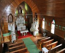 Interior view of Our Lady of the Assumption Roman Catholic Church, Oakburn area, 2006; Historic Resources Branch, Manitoba Culture, Heritage and Tourism, 2006