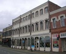 Exterior view of the Rithet Building, Wharf Street elevation, February 2006; City of Victoria, Berdine J. Jonker, 2006