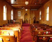 Interior view of St. Andrew's United Church; Township of Langley, 2006