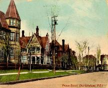 Postcard image of Prince Street, early 1900s; Doug Murray, postal historian