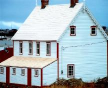 Side and rear view of James Ryan Tenement House, Bonavista, circa 2004, after restoration; HFNL 2004