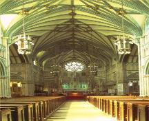 View of the interior of St. Dunstan's Roman Catholic Cathedral/Basilica, 1999.; Parks Canada Agency/Agence Parcs Canada, 1999.