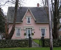 Front (north) elevation of the Rev. John & Sarah Moody House, Yarmouth, NS.; Heritage Division, NS Dept. of Tourism, Culture & Heritage, 2006