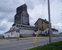 elevator, mill and associated buildings from the street, 2005.; Candice Lee, 2005.