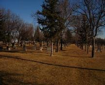 View of the Cemetery.; City of Moose Jaw, John Morris, 2006.