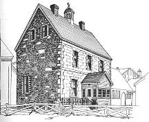 Sketch of Our Lady of Angels/ Presentation Convent as taken from book Ten Historic Towns.  Drawing by Jean Ball, 1978.; Newfoundland Historic Trust 2006/ HFNL 2006