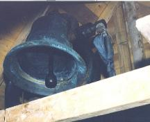 Bell donated by the CN Railway in 1950, the first of its kind in the church.; HFNL/ 2006