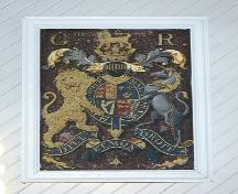 Coat of Arms painted during the Reign of King George III of England, who reigned betweent the 18tha nd 19th centuries.  Provenance unknown.; HFNL/ 2006
