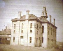 Rear of the Town Hall in 1910; Heritage Newmarket Newmarket Historical Society