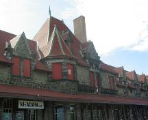 McAdam Train Station - roof details; Province of New Brunswick