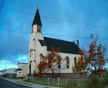St. Mary's Polish Church front and side elevation. ; Heritage Division, NS Dept. of Tourism, Culture and Heritage, 2004.