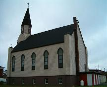 St. Mary's Polish Church side and rear elevation. ; Heritage Division, NS Dept. of Tourism, Culture and Heritage, 2004.