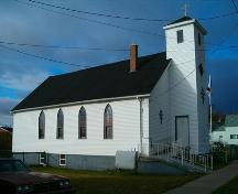 St. Philips' African Orthodox Church front and east elevation.  ; Heritage Division, NS Dept. of Tourism, Culture and Heritage, 2004.