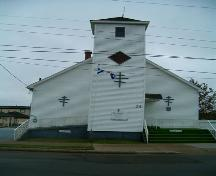 St. Philips' African Orthodox Church front elevation.; Heritage Division, NS Dept. of Tourism, Culture and Heritage, 2004.