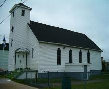 St. Philips' African Orthodox Church front and west elevation.; Heritage Division, NS Dept. of Tourism, Culture and Heritage, 2004.