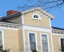 gable detail, Thompson House, Wolfville, NS, 2006; Heritage Division, NS Dept. of Tourism, Culture and Heritage, 2006.