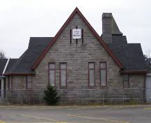 The rear (north) elevation of the Yarmouth County Museum, Yarmouth, NS; Heritage Division, NS Dept. of Tourism, Culture & Heritage, 2006