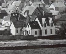 An 1870 image of the north and east (back) sides of the Joseph Sleeth House, Yarmouth, NS; Courtesy of current owner.