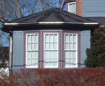 veranda detail, Cochrane House, Wolfville, NS, 2006; Heritage Division, NS Dept. of Tourism, Culture and Heritage, 2006