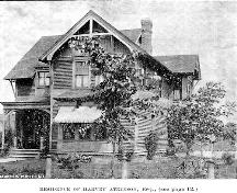 169 Botsford Street (Atkinson Residence) as it appeared in an 1892 publication of the Saint John Daily Sun.; Moncton Museum