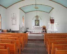 Interior of the Kristiania Lutheran Church, 2006.; Government of Saskatchewan, Brett Quiring, 2006.