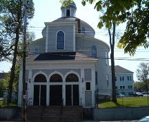 Front elevation, St. George's Church, Brunswick Street, Halifax, 2004.; Heritage Division, NS Dept. of Tourism, Culture and Heritage, 2004.