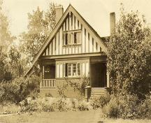 Archival photograph of the exterior of the Jarvis House (no date); Corporation of the District of Oak Bay